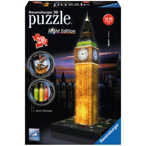 Ravensburger 3D Puzzle Big Ben bei Nacht mit Beleuchtung 216 Teile