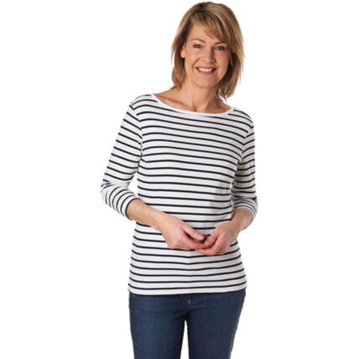 Bild 1 von Adagio Streifen-Shirt, 3/4 Ärmel, für Damen