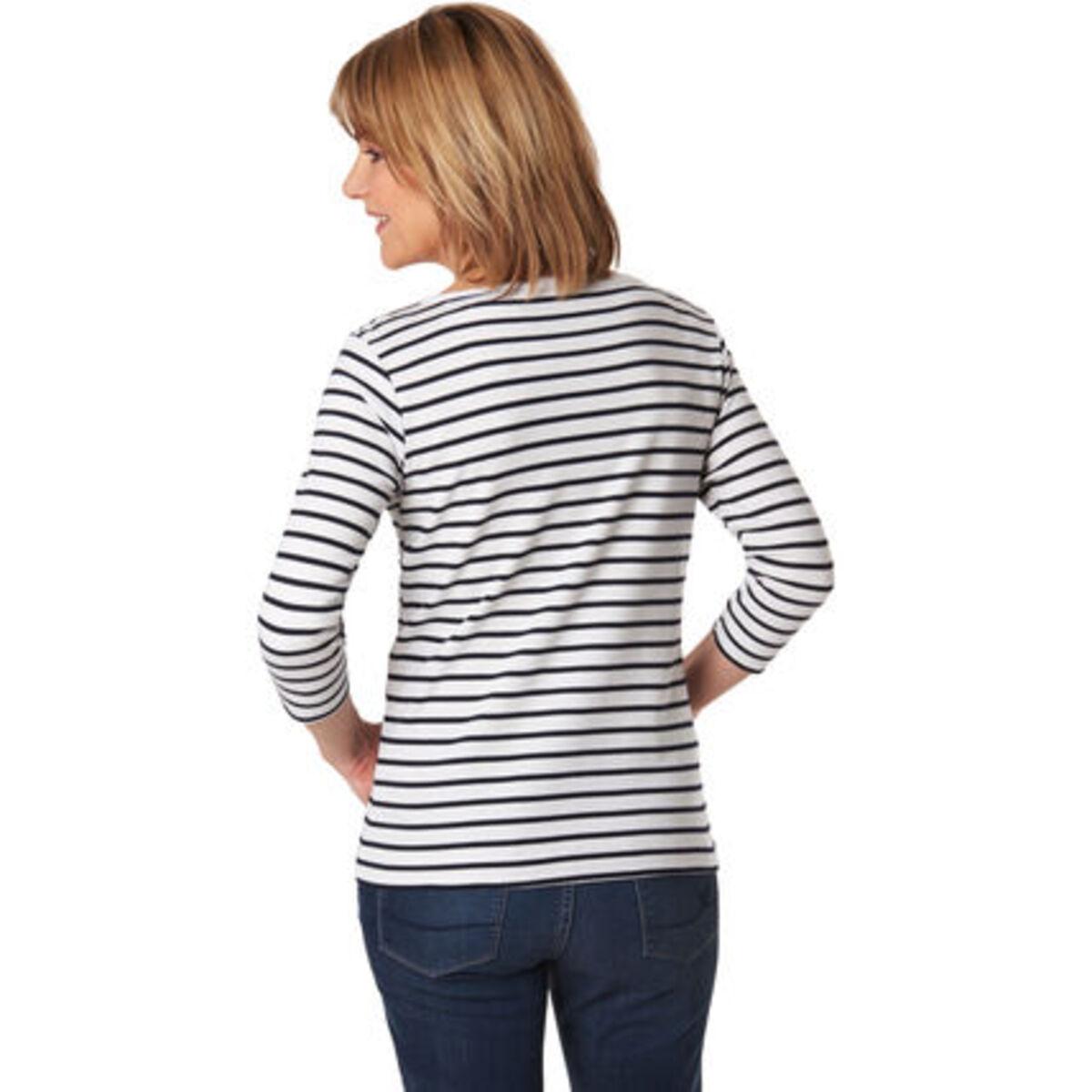 Bild 2 von Adagio Streifen-Shirt, 3/4 Ärmel, für Damen