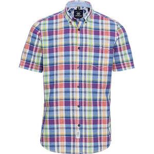 Lerros Hemd, 1/2-Arm, Button down, kariert, für Herren