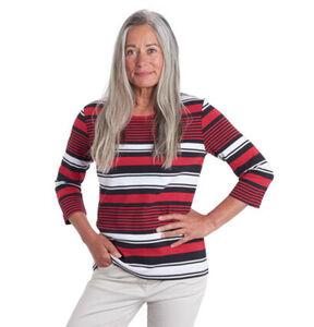 "Mark Adam 3/4 Shirt, ""Laura Ringel"", Bio-Baumwolle, gestreift"