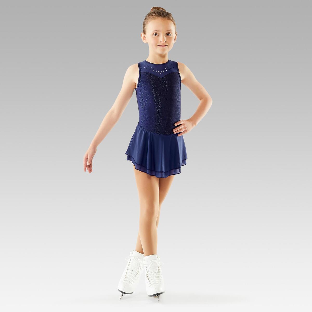Bild 3 von Eiskunstlaufkleid Kinder nachtblau