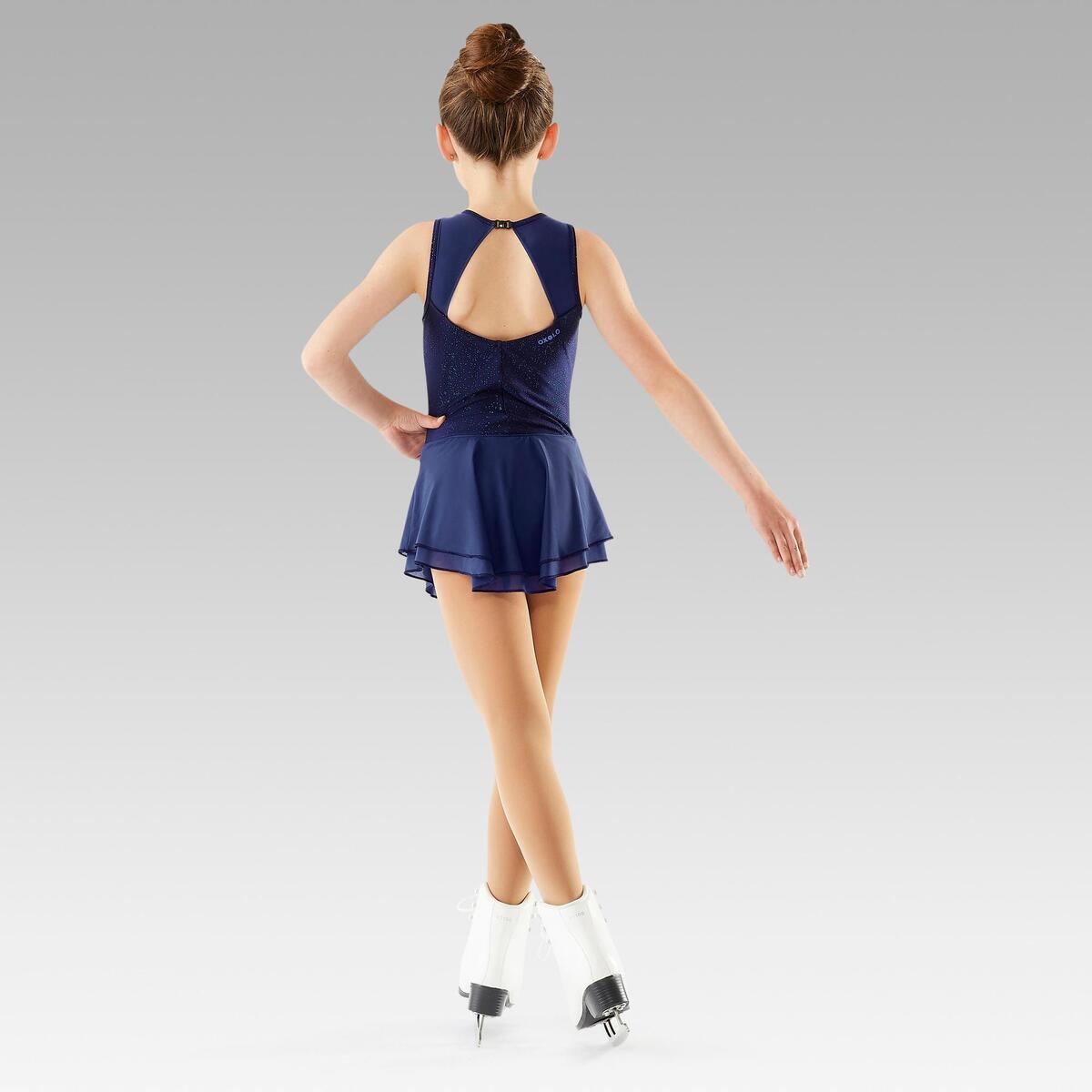 Bild 4 von Eiskunstlaufkleid Kinder nachtblau