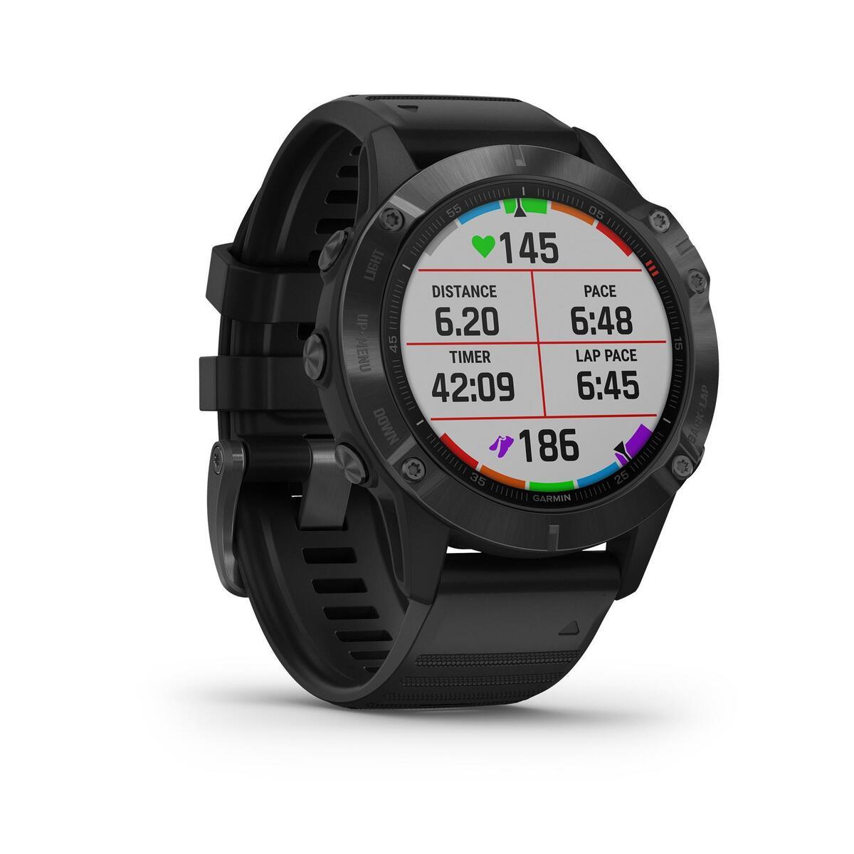 Bild 2 von GPS-Multisportuhr Fenix 6 Pro grau schwarzes Armband