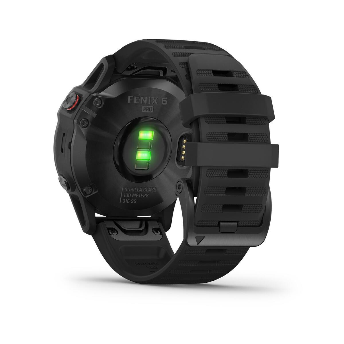 Bild 5 von GPS-Multisportuhr Fenix 6 Pro grau schwarzes Armband