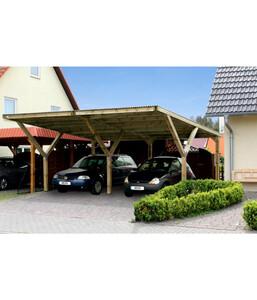 Weka Doppelcarport mit Kunststoffdach
