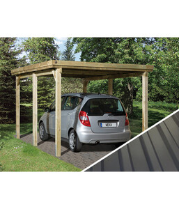 Weka Carport 617 Gr. 1, mit PVC-Kunststoffdach