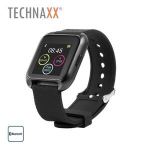 Smartwatch TX-SW5HR · Schrittzähler · Schlafüberwachung / -analyse · Herzfrequenzmessung · wasserdicht IP 67 · Smartphone-Benachrichtigungen