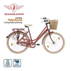 Citybike Roosendaal 28er - Shimano Drehgriffschalter - Alu-V-Bremsen, Rücktrittbremse - Rahmenhöhe: 50 cm - Lenkerkorb - Preis für vormontierte Räder