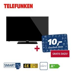"""D40U551N1CW • 3 x HDMI, 2 x USB, CI+ • integr. Kabel-,  Sat- und DVB-T2-Receiver • Maße: H 53,5 x B 91,6 x T 8,4 cm • Energie-Effizienz A+ (Spektrum A+++ bis D) • Bildschirmdiagonale: 40""""/"""