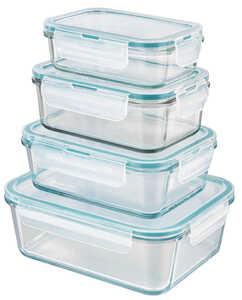 GOURMETMAXX  Glas-Frischhaltedosen-Set »Klick it Smaragd«