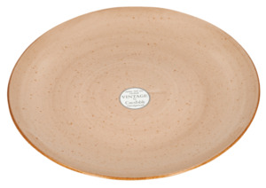 CreaTable Grillteller Vintage Nature Braun –  3 cm x Ø 31 cm