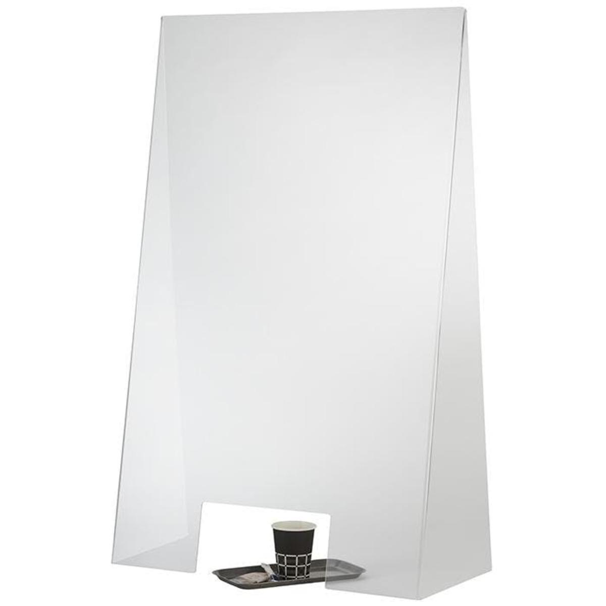 Bild 2 von APS Hygieneschutzwand aus Acryl mit Öffnung 60cm x 28cm x 99cm