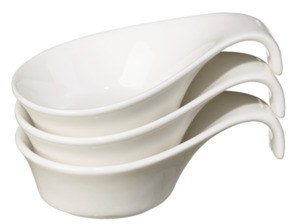 METRO Professional Fingerfood-Cup, Ø 12 cm, 3 Stück, cremeweiß