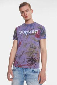 Hawaiianisch geblümtes T-Shirt