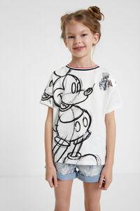 T-Shirt mit Illustration von Micky Maus