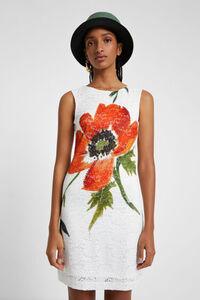 Kleid mit Spitze und Neonfarben