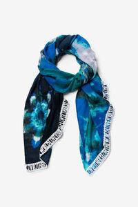 Schwarz-blaues Halstuch in leicht verwaschener Optik