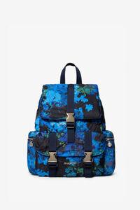 Gesteppter Rucksack mit blumiger Camouflage