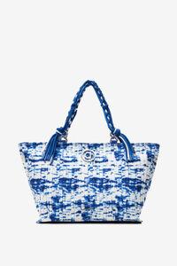 Plissierte Tasche mit Meereswellen