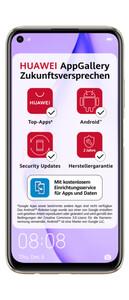 Huawei P40 lite sakura pink Smartphone (6,4 Zoll, 128 GB, 48 MP + 8 MP + 2 MP + 2 MP, Quad-Kamera, 4.100-mAh, Octa-Core, Fingerabdrucksensor, pink)