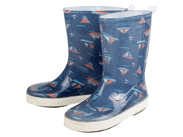 LUPILU® Regenstiefel Jungen, mit Profil-Laufsohle, Einlegesohle, wasserdicht, UV-beständig