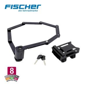 Faltschloss XL hoher Schutz gegen Gelegenheitsdiebe, leichte Handhabung, kunststoffummantelter Stahl, gleichzeitiges Abschließen von 2 Fahrrädern möglich, inkl. Rahmenhalterung
