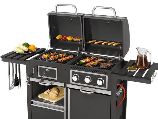tepro kohle gas grill toronto kombi 8 7 kw leistung 3 edelstahlbrenner 2 ablagen von lidl. Black Bedroom Furniture Sets. Home Design Ideas