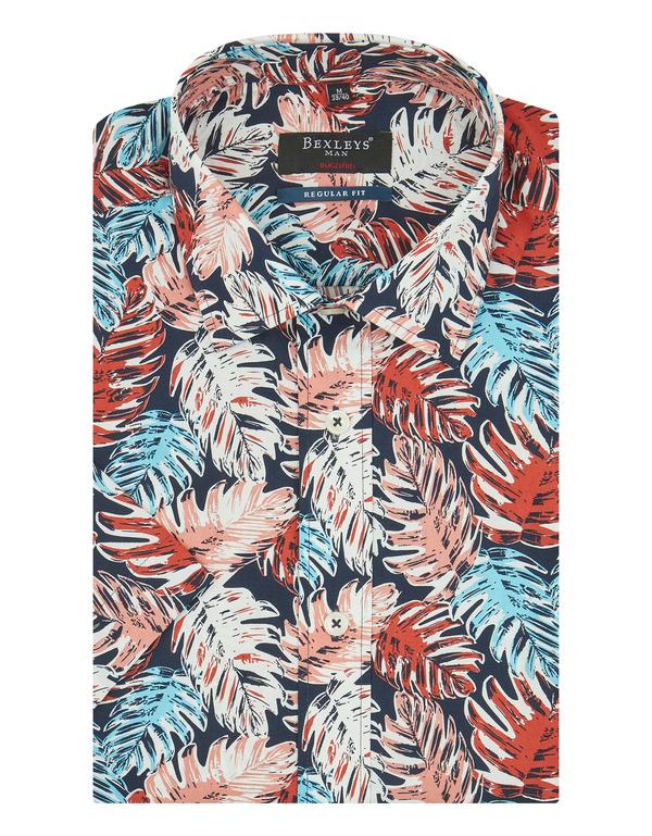 Bexleys man - Freizeithemd, kurzarm, bedruckt, BÜGELFREI, REGULAR FIT