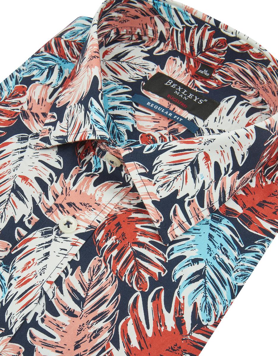 Bild 2 von Bexleys man - Freizeithemd, kurzarm, bedruckt, BÜGELFREI, REGULAR FIT