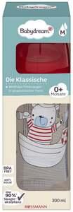 """Babydream Weithalsflasche """"Die Klassische"""" rot Gr. M 0+ Monate"""