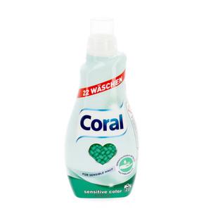 Coral Flüssigwaschmittel Sensitve Color 1,1 Liter