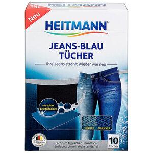 HEITMANN Jeans-Blau Tücher (10er)
