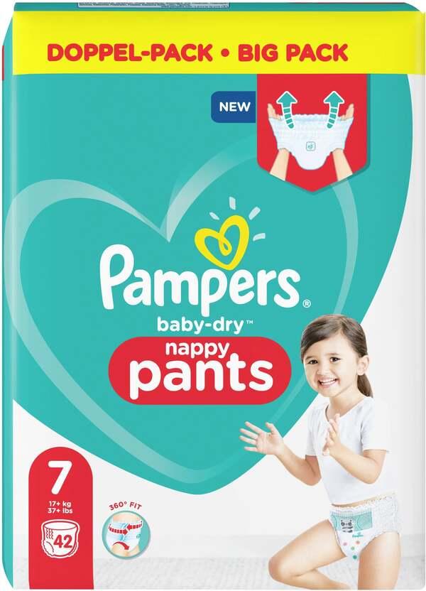 Pampers Höschenwindeln baby-dry Größe 7 (17+ kg) Doppelpack