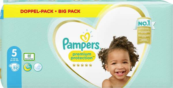 Pampers premium protection Windeln Gr. 5 (11-16 kg) Doppelpack
