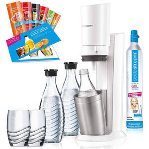 SodaStream Crystal 2.0 Promopack weiß Wassersprudler