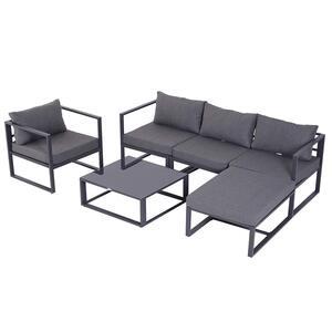 Outsunny Gartengarnitur für 4–5 Personen grau