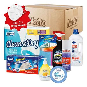 Hygiene-Paket + 2 x Mund-Nasen-Maske FFP2