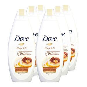 Dove Duschcreme Pflege & Öl 250 ml, 6er Pack