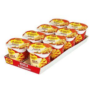 Maggi 5 Minuten Terrine Nudeln in Rahmsoße 61 g, 8er Pack