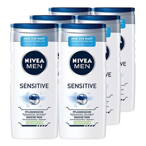 NIVEA MEN Sensitive Pflegedusche 250 ml, 6er Pack