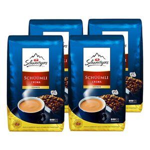 Schweitzers Schümli Crema ganze Kaffeebohnen 1000 g, 4er Pack