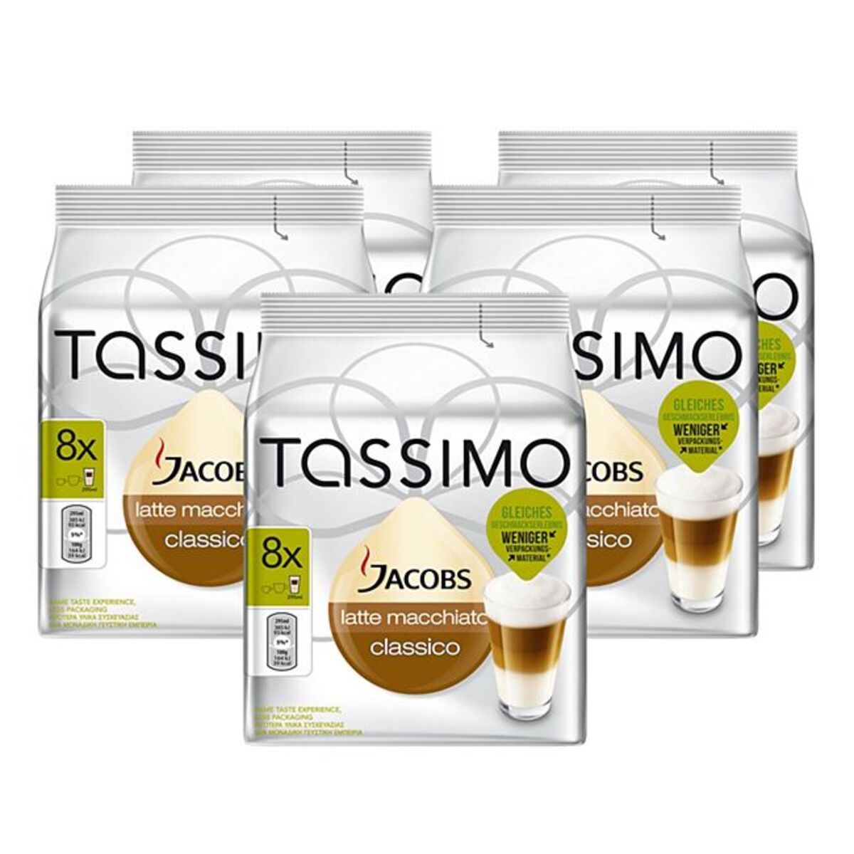 Bild 1 von Jacobs Tassimo Latte Macchiato 16 Kapseln 264 g, 5er Pack