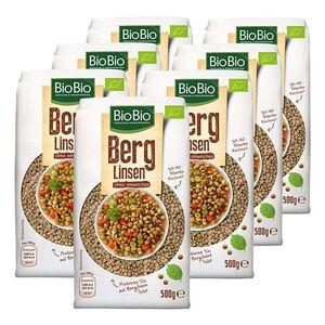 BioBio Berg Linsen 500g, 7er Pack