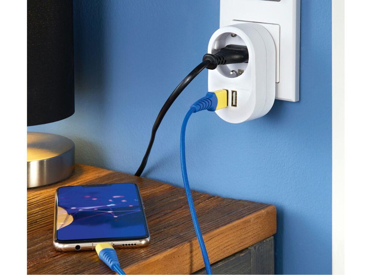 Bild 2 von SILVERCREST® Steckdosenadapter, mit Kindersicherung, mit 2 USB-Ladebuchsen