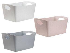 Koziol Organic Aufbewahrungsbox, 3,5 l Volumen, ineinander schachtelbar, multifunktional