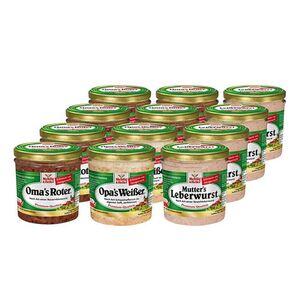 Mehlig & Heller Familienwurst sortiert 300 g, 12er Pack