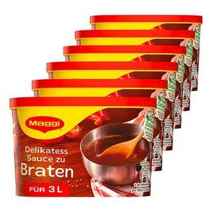 Maggi Delikatess Sauce zum Braten ergibt 3 Liter, 6er Pack