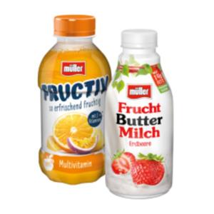 Müller Fruchtbuttermilch oder Müller Fructiv