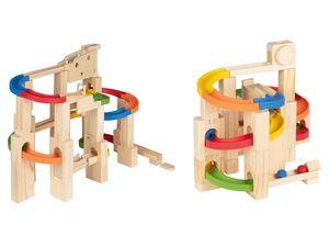 PLAYTIVE® JUNIOR Kugelbahn, inklusive 2 Kugeln, mit Kunststoffteilen, aus Echtholz